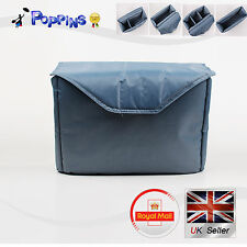 NEW Silver Padded Shockproof Partition Protective Insert Bag For Camera Lens