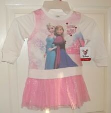 Baby Girls Disney FROZEN~Pink TUTU DRESS~size 2T 2 Toddler~NWT~ELSA ANNA~Sparkle
