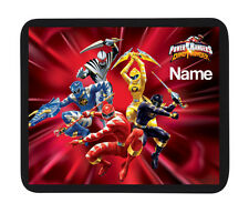 "Peronalised Kids ""Power Rangers Dino"" Mouse Mat - Add Child Name - Great Gifts"