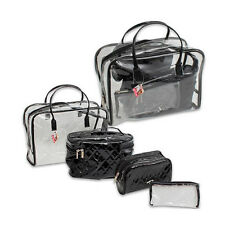 4Pc Clear Transparent Plastic Travel Cosmetic Makeup Toiletry Bag Pouch Zipper