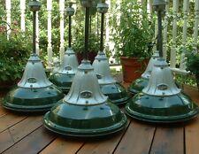 1935 BENJAMIN VAPOR SEAL Explosion Proof Porcelain Industrial Green Light VTG