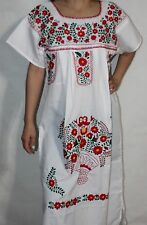 Medium Peasant Tunic Boho Hippie Hand Embroidered Mexican Dress
