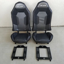 Polaris RZR XP1000 Seats Black / Charcoal with universal seat bases- 1 Pair