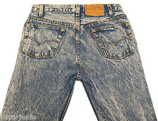 Original Vintage Levis 501 Acid Wash Slim Leg Senim Jeans W30 L32 Retro 80's USA