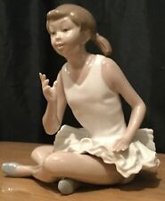 NAO By Lladro Seated Ballet Girl Ballerina Figurine