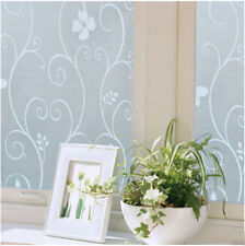 Hot New 45x100cm Frosted Privacy Cover Glass Window Flower Sticker Film Office