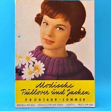 Modische Pullover und Jacken | DDR 1962 | Verlag für die Frau 801 | Stricken