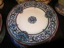"""Antique 1868 Pinder & Bourne Beauvais 8-3/4"""" Luncheon Plate"""