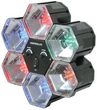 QTX PL6 6 Way Pod LED Party Disco Light Sound Activated 6 Colours (153.002)