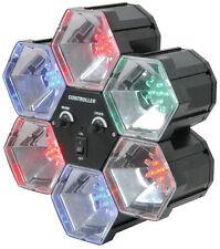 QTX PL6 6 Way Pod LED Party Disco Light Sound Activated 6 Colours (153.002)