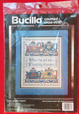 "Collectable Teapots-Bucilla Counted Cross Stitch Kit #40887-11"" X 14""-New-1994"