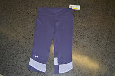 womens ladies under armour heatgear,capri,running leggings size medium 10-12