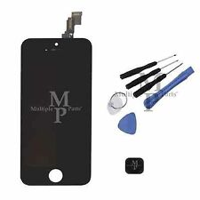 iPhone 5C Black Replacement LCD Touch Screen Digitizer Assembly + Home Button