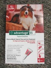 Advantage Red (4-Pack) for Large Dogs 21-55 lbs ** FREE SHIPPING **