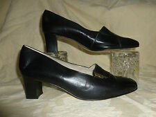 LADIES ELMDALE BLACK  LOAFER SHOES UK 7.5  BRITISH MADE  NEW NEVER WORN
