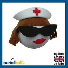 Brunette Nurse Staff Sister Midwife Hospital Car Aerial Ball Antenna Topper