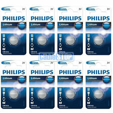 8 x Philips CR1616 3V Lithium Button Battery Coin Cell DL1616 for Car Key Fobs