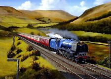 The Royal Scot Express Steam Train Beautiful Print Painting Poster Locomotive
