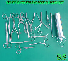 SET OF 15 PCS EAR & NOSE SURGERY INSTRUMENT FORCEP VIENNA NASAL SPECULUM, EN-001