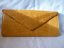 LAI CROCODILE SKIN CLUTCH BAG HANDBAG designer purse evening bag rrp@£1500