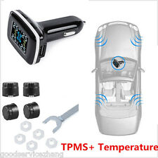 TPMS Auto Car Tire Tyre Pressure Monitor System+4 External Sensors LCD Display