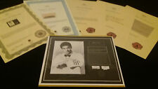 Bruce Lee Authentic Hair Lock w Shirt Photo Certified Signed Authentic COA