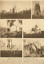 LAMPERNISSE BELGIQUE ARTICLE DE PRESSE DESTRUCTION EGLISE 1916