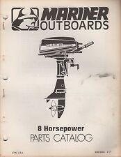 1977 MARINER OUTBOARD 8 HP PARTS MANUAL M-90-83003 (382)