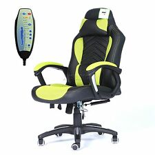FoxHunter Luxury 6 Point Massage Office Computer Chair Reclining MC09 Green New