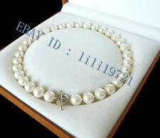 "10mm AAA+ White south sea shell pearl necklace 18"" LL0088"