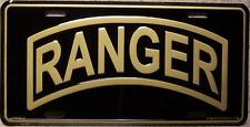 Aluminum Military License Plate RANGER NEW shoulder tab