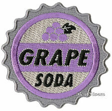 "Disney UP Movie Grape Soda Bottle Cap Embroidered IRON ON Patch Badge 3"" Round"