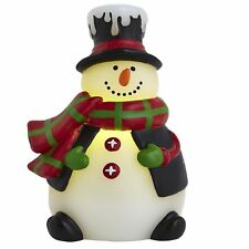 """LED SNOWMAN CANDLE, NEW, CHRISTMAS, WINTER, INCLUDES TIMER, 5.5""""H"""