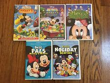Lot 5 Disney Mickey Mouse Clubhouse DVD's Christmas Classic Collection Best Pals
