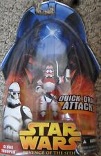 Star Wars revenge of the sith - Shock clone trooper action figure new card NMIB