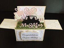 Handmade card, 3D Wedding Card in a box -Bridal car