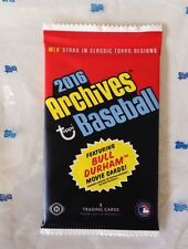 2016 Topps Archives Baseball HOBBY Pack (Ken Griffey Jr Kevin Costner, RC Auto)?
