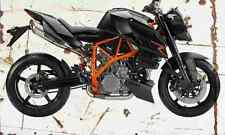 KTM 990 SuperDukeR 2007 Aged Vintage SIGN A4 Retro