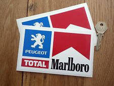 PEUGEOT TOTAL RALLYE RACE CAR stickers 205 306 GtiTurbo