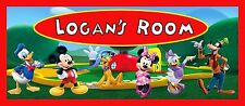 Mickey Mouse Clubhouse Personalised wooden door plaque gift idea UK SELLER!!