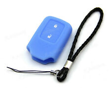 Blue Silicone Case Cover For Honda Fit Odyssey Vezel Remote Smart Key 2 Button 3
