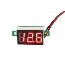Mini Red LED Panel Voltage Meter 3-Digital Adjustment Voltmeter UL
