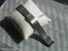 SEIKO 19mm ORIGINAL 1970s STELUX  MESH WATCH STRAP BRACELET CURVED ENDS