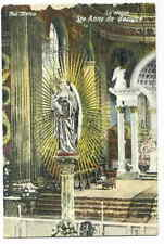 THE STATUE Ste. Anne de Beaupre Quebec Postcard - As Is