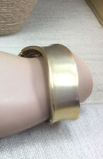 Vintage Style Bracelet Goldtone Cast metal Wavy Edge Clamper Bangle