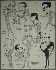 RAF O.C. And Officers Sealand Aerodrome 1926 Fred May Caricatures Article 7015