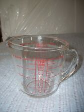 Vintage Pyrex 2 Cup Measuring Mixing 16 Oz 1 Pint ozs only Clear Glass Model 516