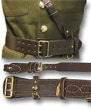 SAM BROWNE LEATHER BELT & CROSS STRAP, BRITISH ARMY OFFICERS, BRN or BLK [14090]