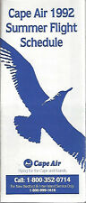 Cape Air Northern system timetable 6/11/92 [6011] (Buy 2 get 1 free)