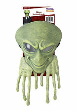 Green Alien Mask & Hands Space Sci-fy Fancy Dress Costume Accessory